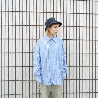 🚚 藍色電繡民族風襯衫🔥賣場商品任選兩件9折 三件85折🔥