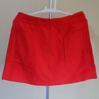 Topshop Red Skirt with pockets