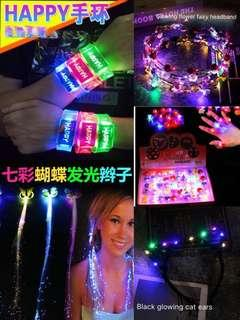 🚚 Best selling new led flash hairpin headband: birthday, concert, party, song club, travel, go play