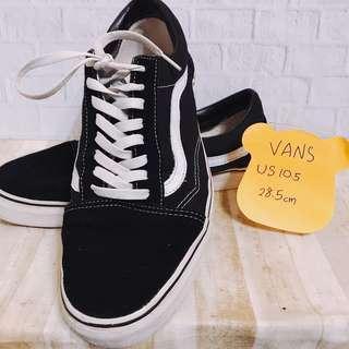 🚚 VANS 👍二手黑色休閒滑板鞋👟