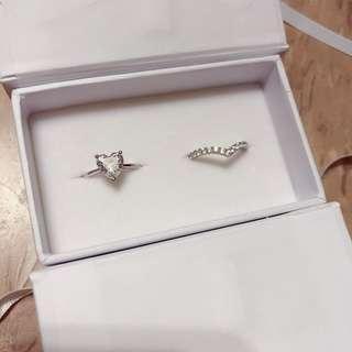 香港自家品牌 Wow fashion 925 純銀包白金 size 9戒指