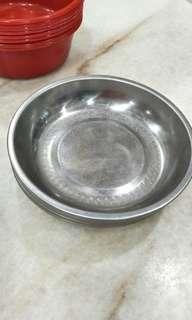 20cm S. Steel l Plate and 8'' Plastic Basin