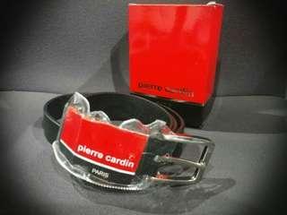 (Only 1 piece) Authentic Pierre Cardin genuine black leather men's belt