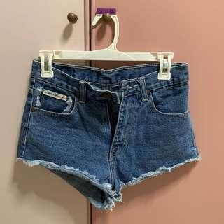 High Waist Light Denim Shorts