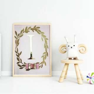 Personalised name frame for children's room