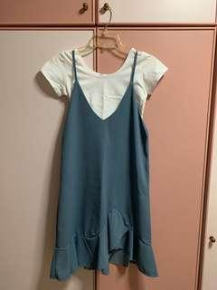 Blue Colour Block Dress