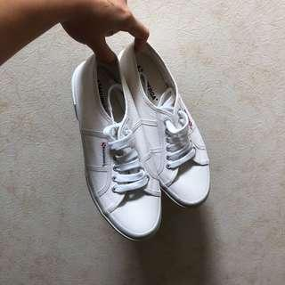 Superga white shoes (inspired)