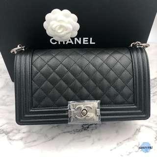 Chanel Boy 25cm荔枝皮