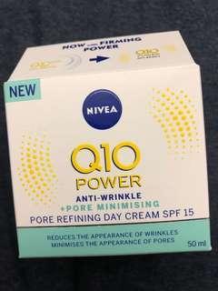 Nivea Q10 power anti wrinkle pore minimising pore refining day cream SPF 15 抗皺修護日霜