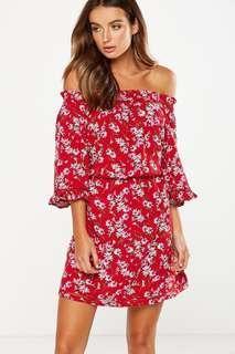 Cotton On Off Shoulder Floral Dress