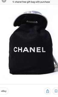 Chanel draw string bag