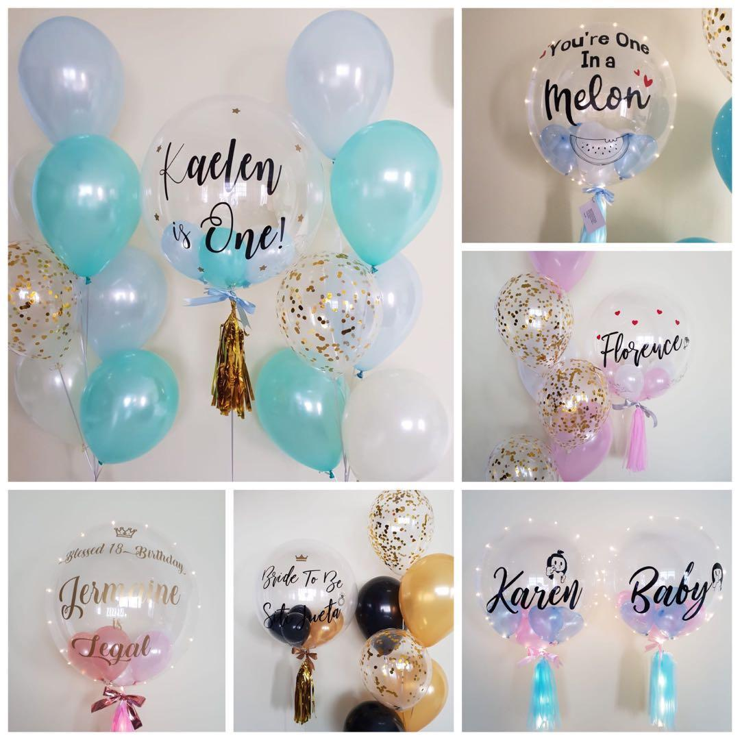 "24"" Personalised/Customised Clear Bubble Balloon"