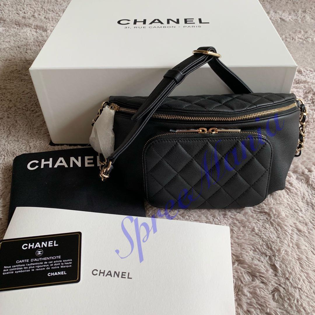 c6868a385b2a 💯% Authentic Brand New Chanel Waist Pouch Black Caviar, Luxury ...
