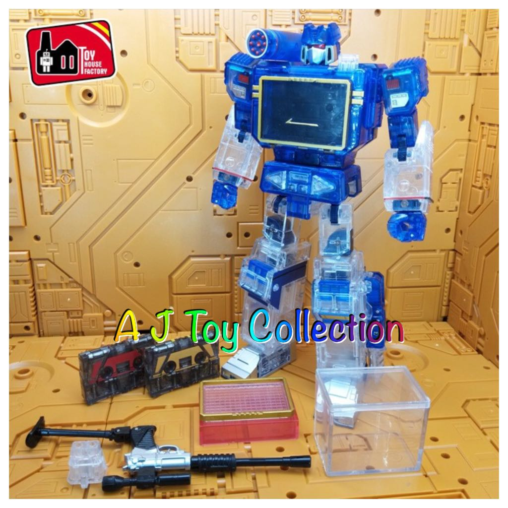 [ In Stock ] Transformers Toy House Factory THF MP-13 Clear Version  Soundwave