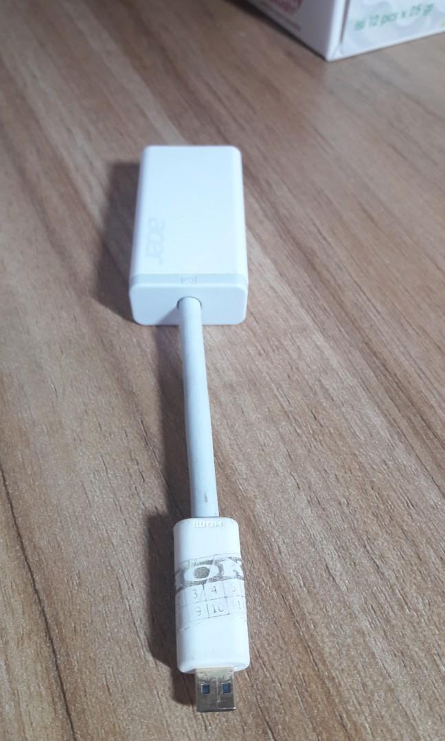 Acer Conventer Micro HDMI Male to VGA Origibal