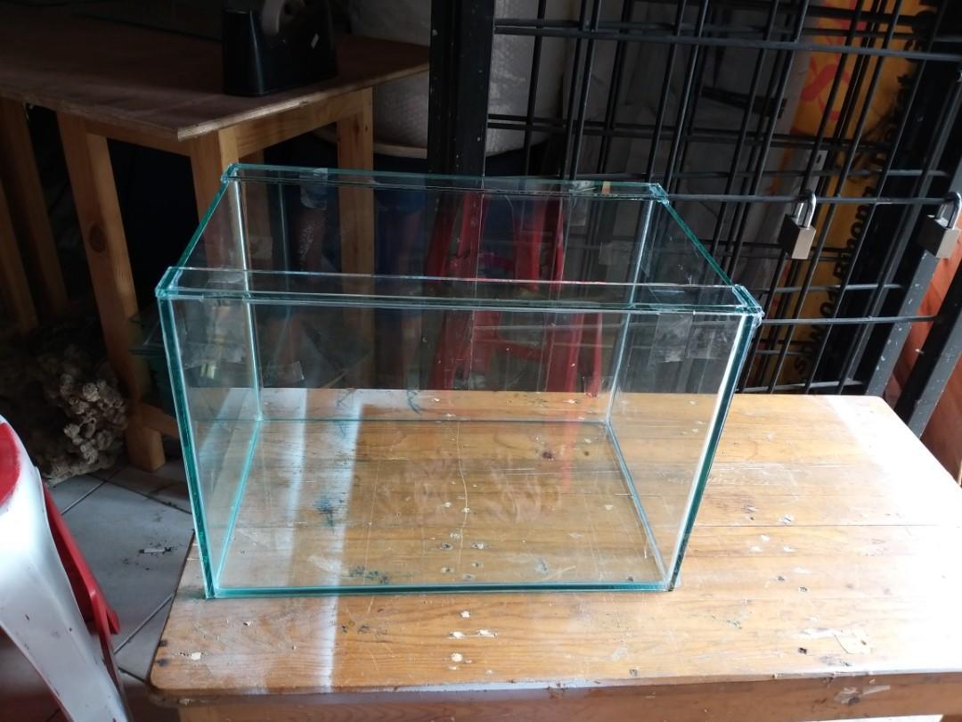 Aquarium 40x25x28cm kaca 5mm khusus gojek/grab