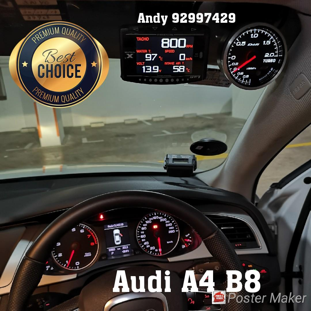 Audi A4 B8 Lufi X1 Revolution OBD OBD2 Gauge Meter display