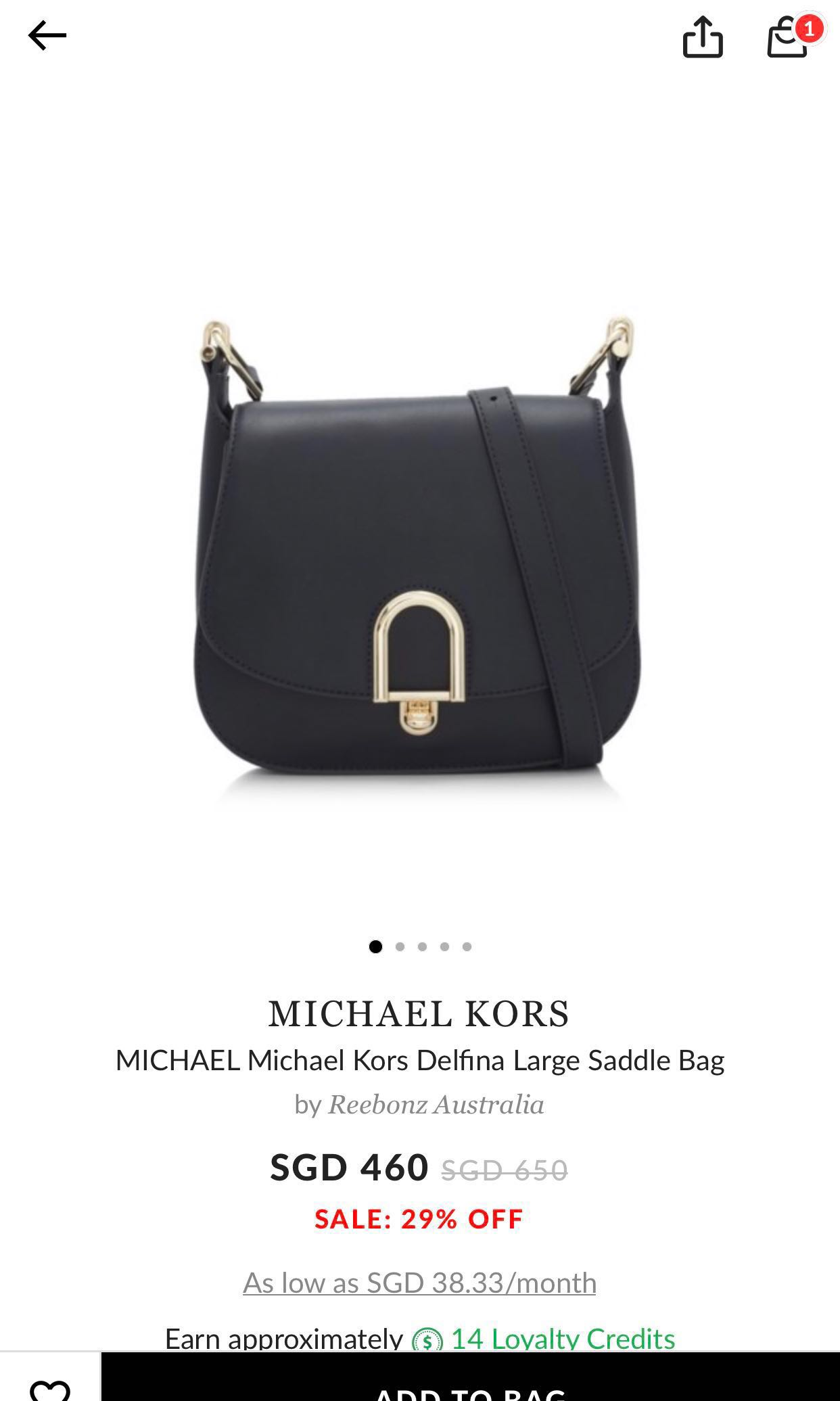 98b9e699cdac AUTHENTIC Brand new Michael Kors Delfina Large Saddle Bag