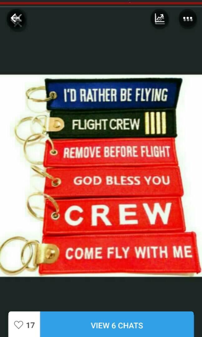 BAG TAG (PILOT CABIN CREW PAX)