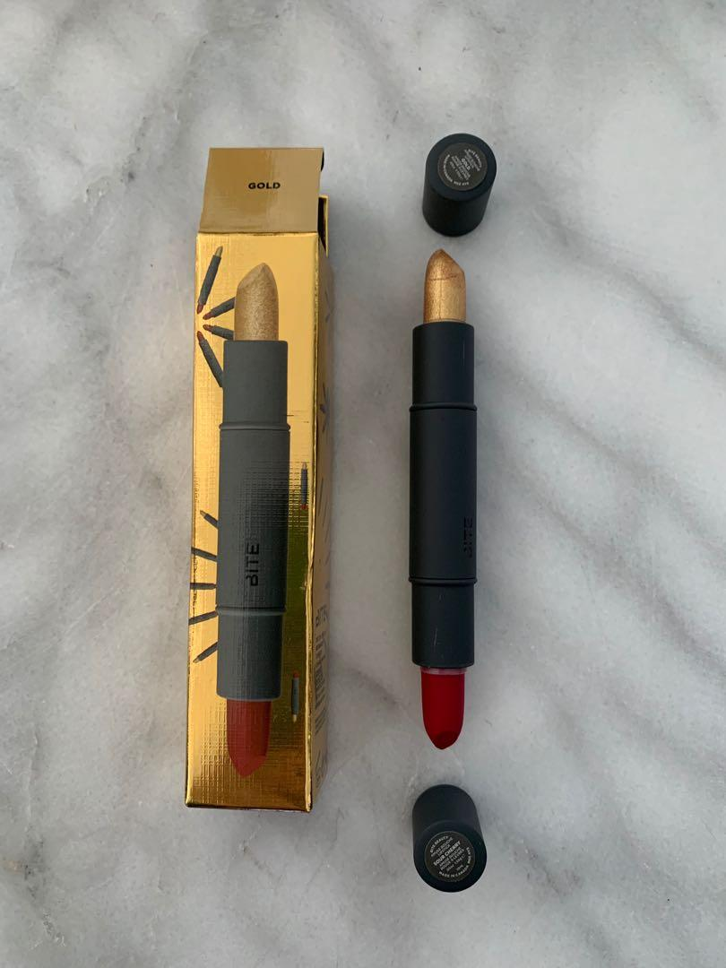 Bite Beauty Amuse Bouche Lipstick Duo in Gold and Sour Cherry