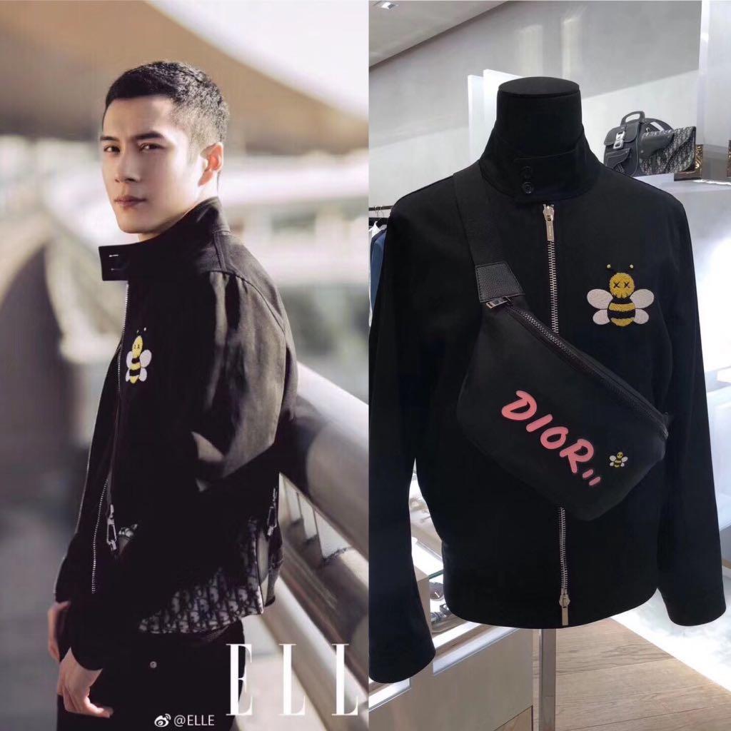 78c8ad7c99 BNWT Authentic Dior x Kaws 🐝 Jacket, Men's Fashion, Clothes ...