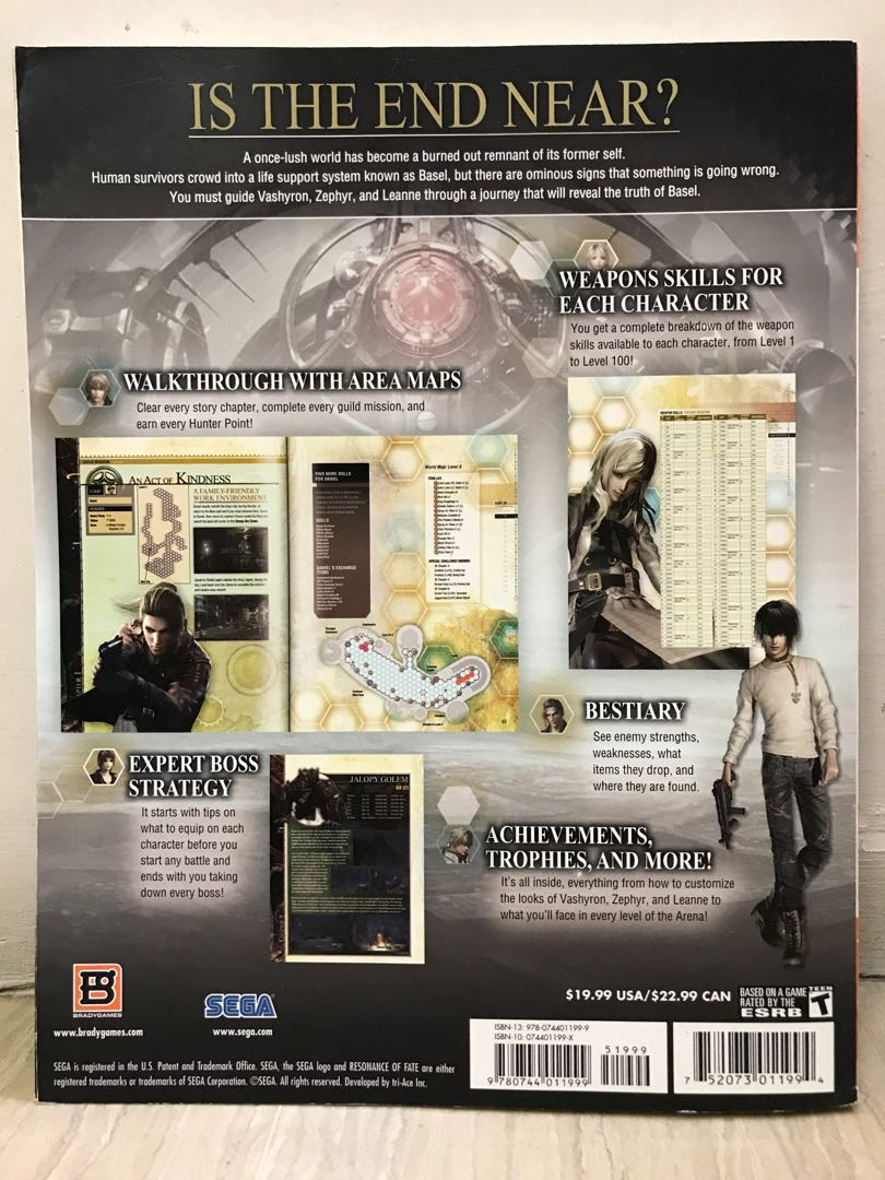 BradyGames Signature Guide PS3 Xbox 360 Classic Resonance Of Fate Guidebook