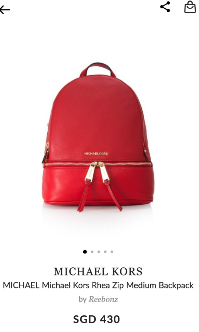 f212bc3948b2 Brand new MK medium leather backpack, Luxury, Bags & Wallets ...