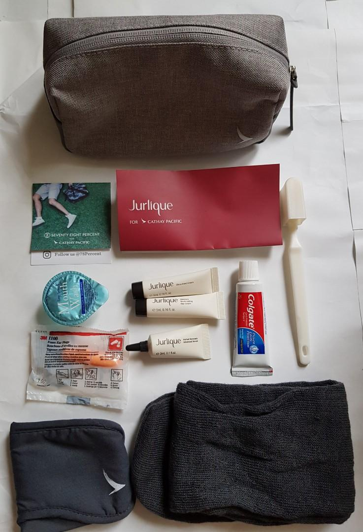 Cathay Pacific business class amenities kit