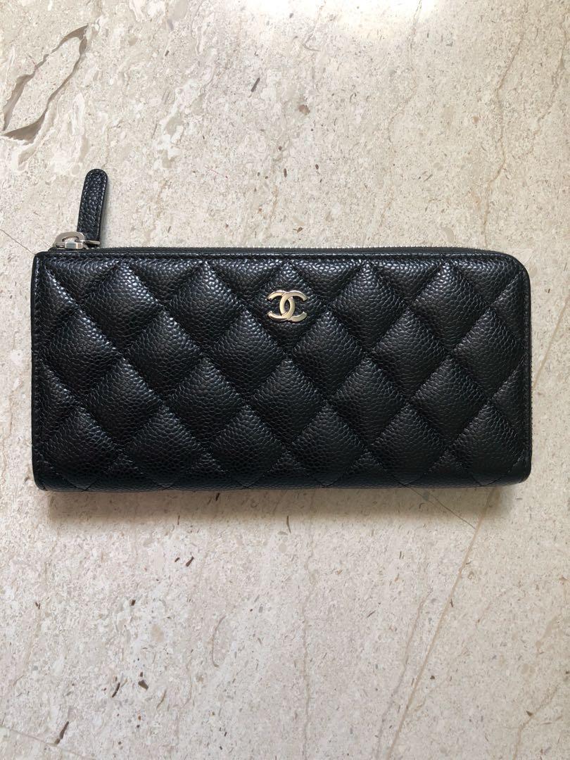 e32c38b9ad4ed4 Chanel Zippy Long Wallet (Caviar), Luxury, Bags & Wallets, Wallets ...