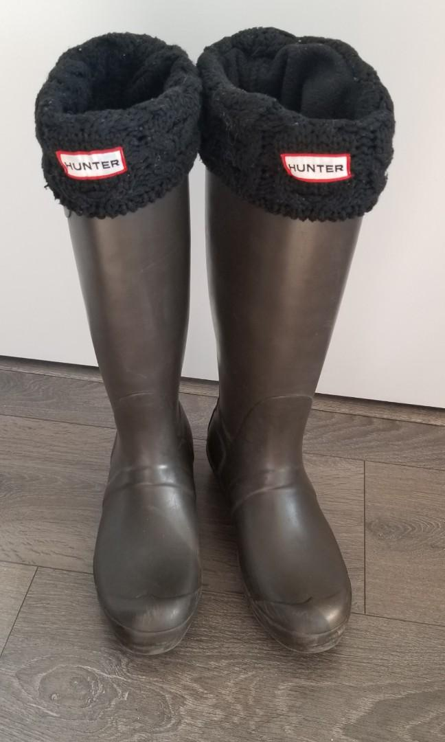 Chocolate Brown Tall Hunter Boots