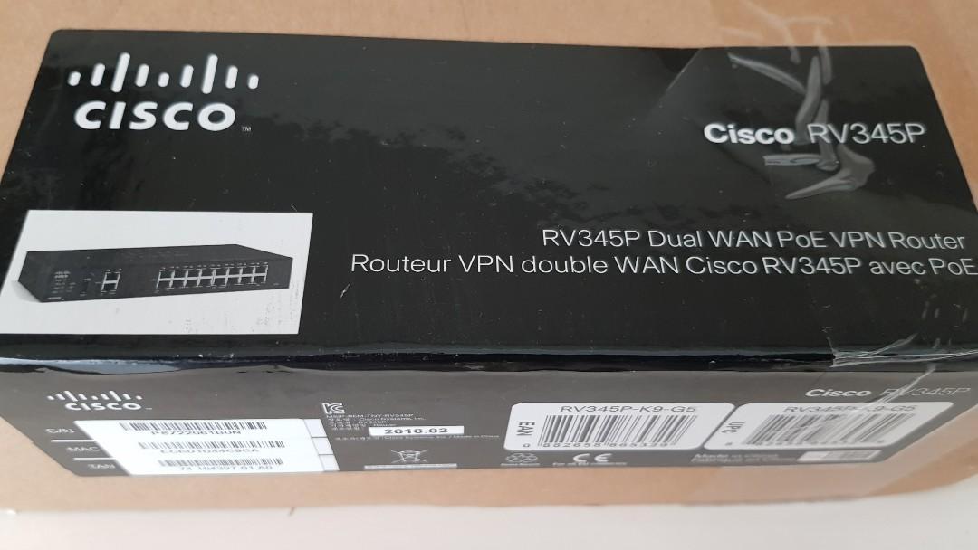 Cisco RV345 Dual WAN Gigabit VPN Router with 16 Gigabit Lan