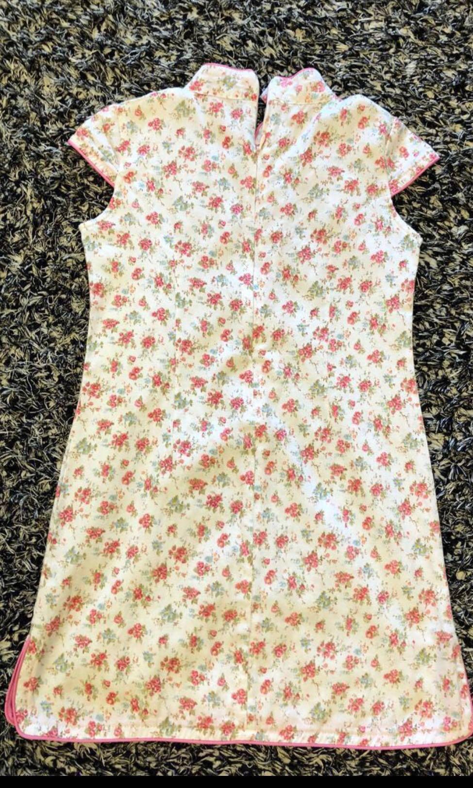 CNY Cheongsam Pink Flora dress