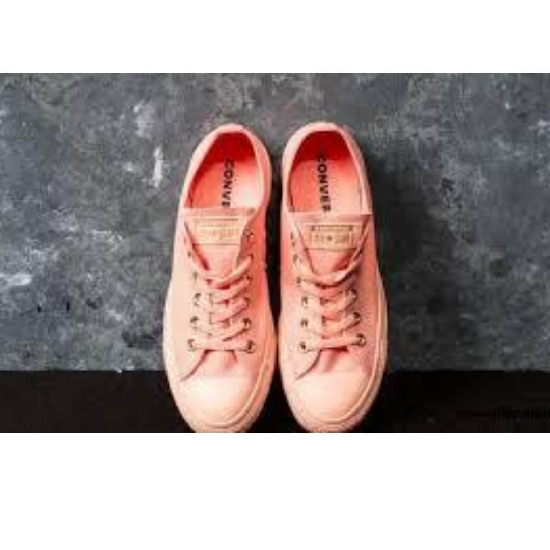 """Converse Chuck Taylor OX """"Pale Coral/Gold"""" US Women's Sizes 6 7 8 9 10"""