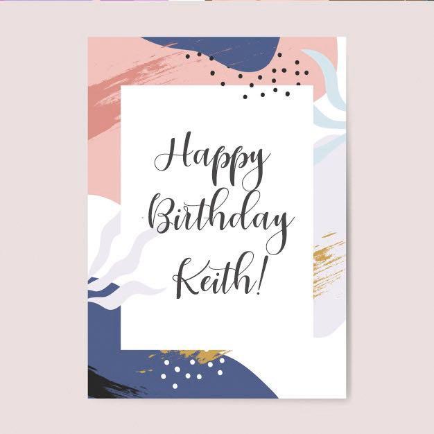 Custom Made Birthday Card Design Craft Art Prints On Carousell
