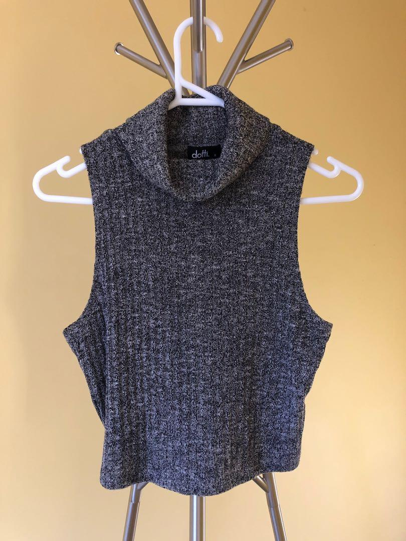 Ditti Crop Top with turtle neck