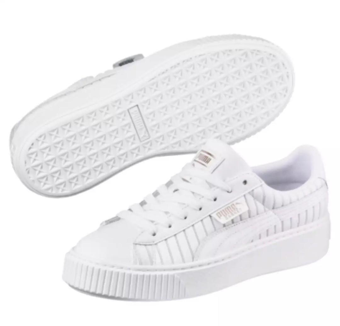 newest 2d2cf d4f01 EU 37.5 & EU 38 Puma Basket Platform EP Women Sneakers - Puma White