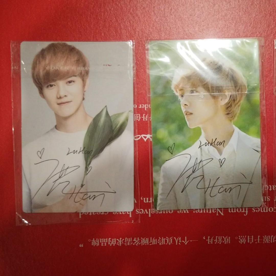 EXO Luhan Nature republic Soap postcard + standee + pc ver A & B - RM90