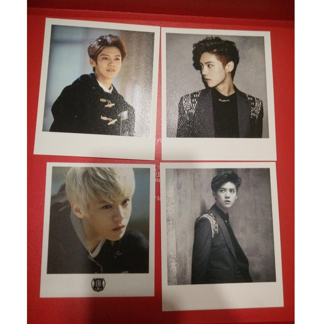 EXO Luhan Official Polaroid (Overdose x2, MID x1, Wold x1) -RM40