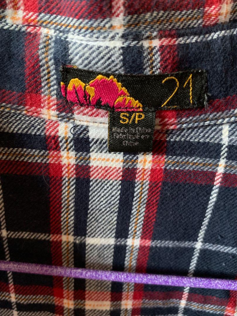 F21 Checkered Shirt