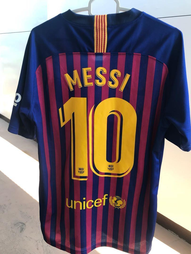 size 40 dd8fe 37e5a FC BARCELONA 18/19 KIT, #10 MESSI on Carousell