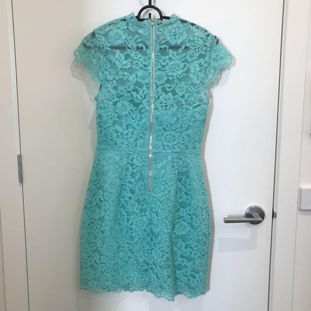 Forever new mint lace dress