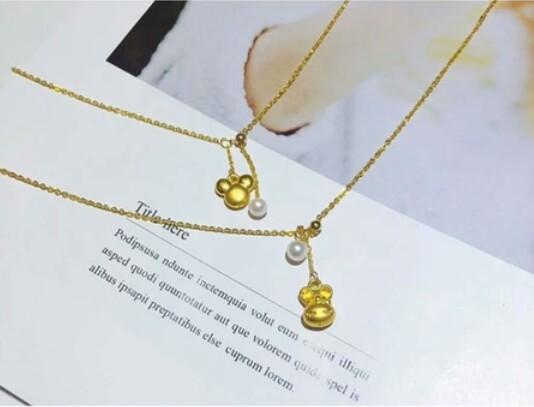 Gold anklet 999 gold stars Xiaomiqi small key small feet small slippers adjustable pearl anklet
