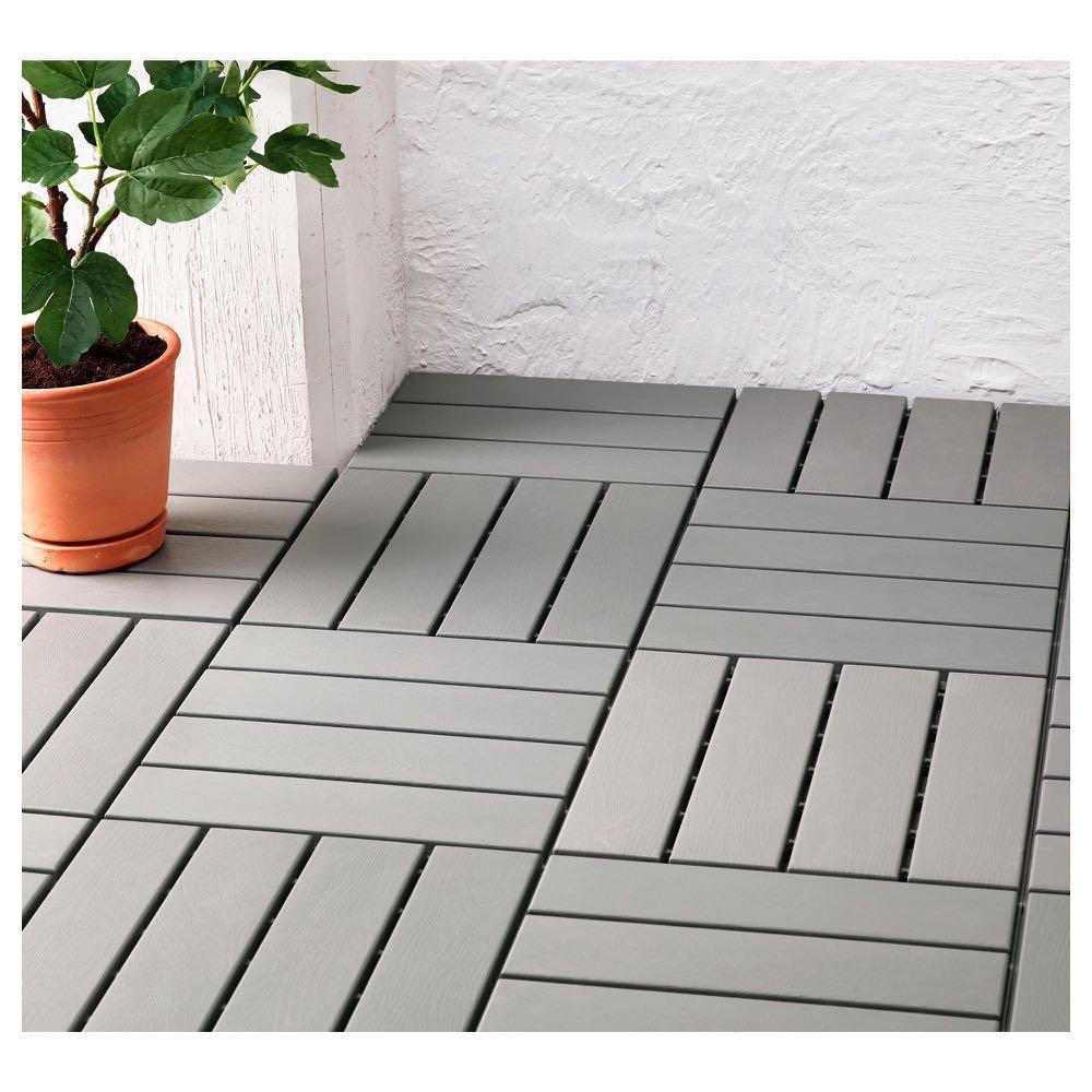 Ikea Runnen Floor Decking Outdoor, Outdoor Interlocking Tiles Ikea