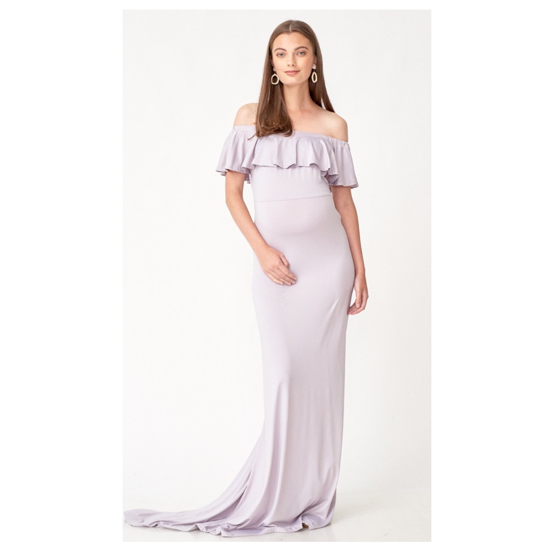 8ec4d76f17e25 ISABEL MULTI WEAR MATERNITY MAXI DRESS LILAC GREY from Dear Collective,  Babies & Kids, Maternity on Carousell