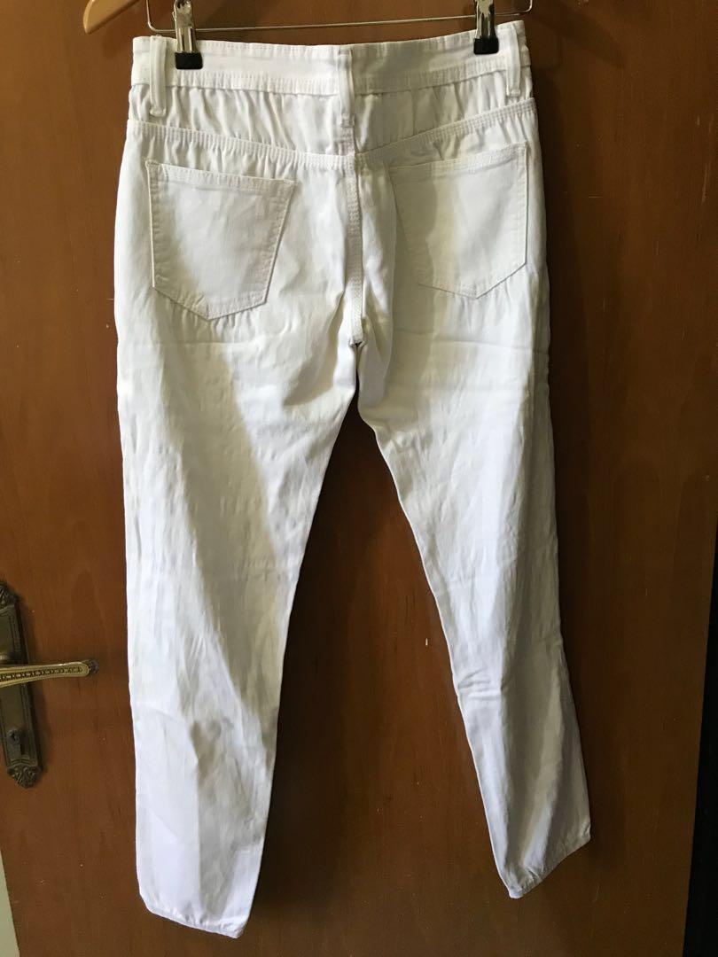 Its Ripping Chief White Ripped Jeans Celana Panjang Putih Sobek