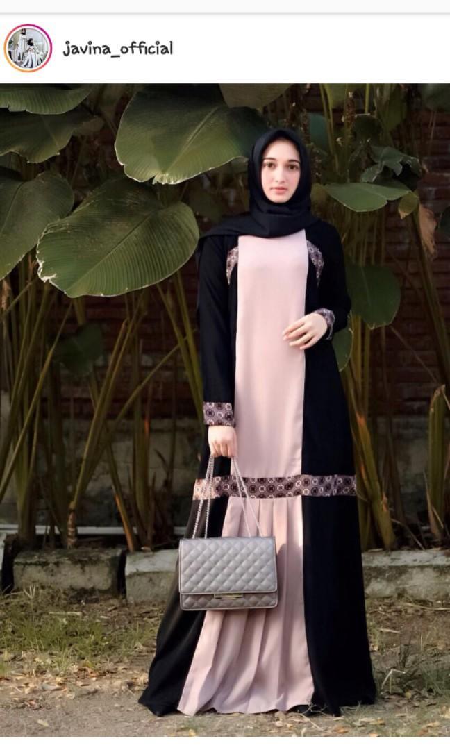 Javina Official Syakira Abaya Nude Nwt Edisi Maret 2019 Fesyen Wanita Pakaian Wanita Gaun Rok Di Carousell