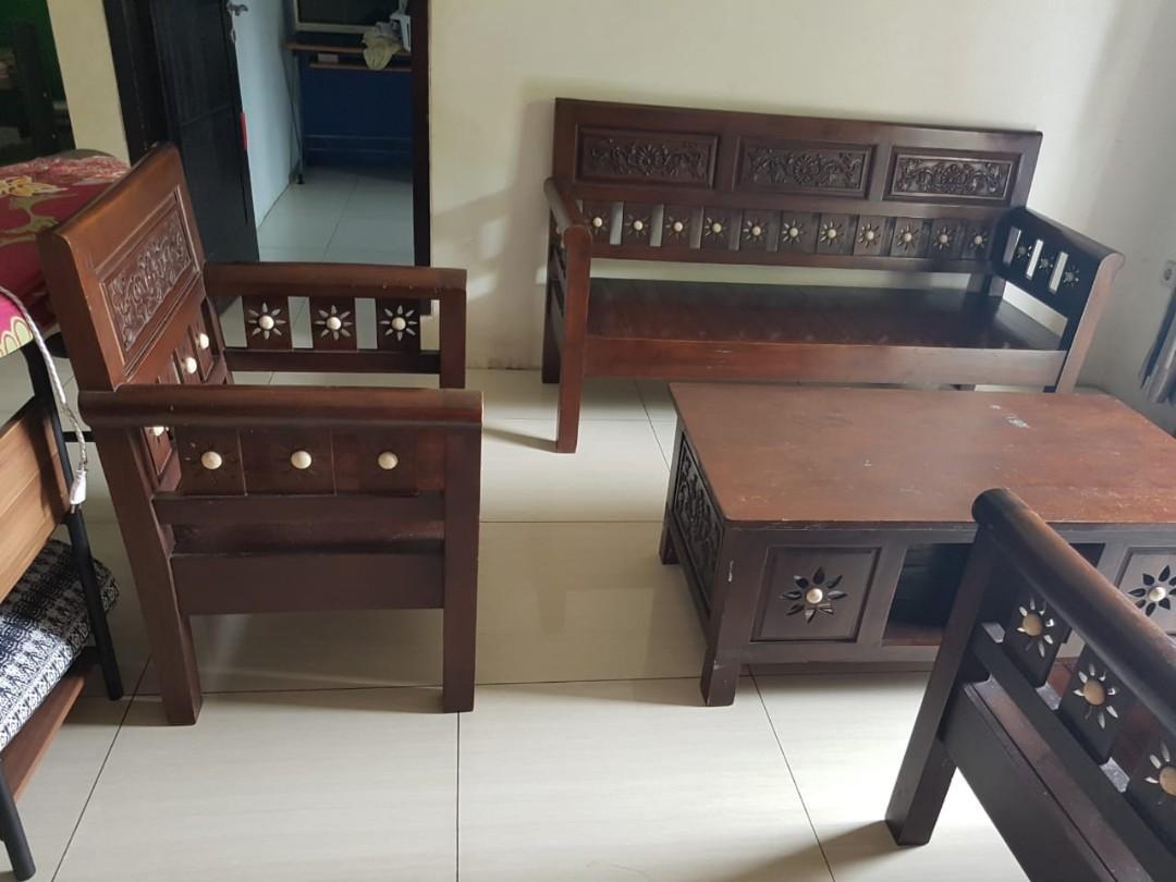 Jual Furniture Bangku Jati