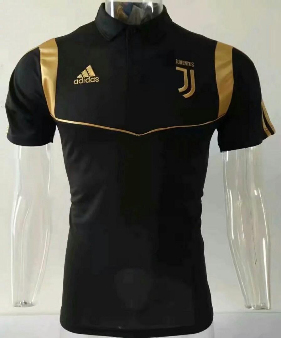 the latest 8d768 e6767 Juventus 2019 Black Polo Kit, Sports, Sports Apparel on ...