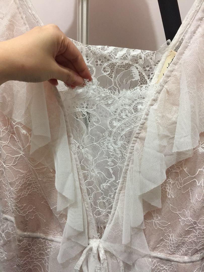 柔軟Lace 性感連身短裙