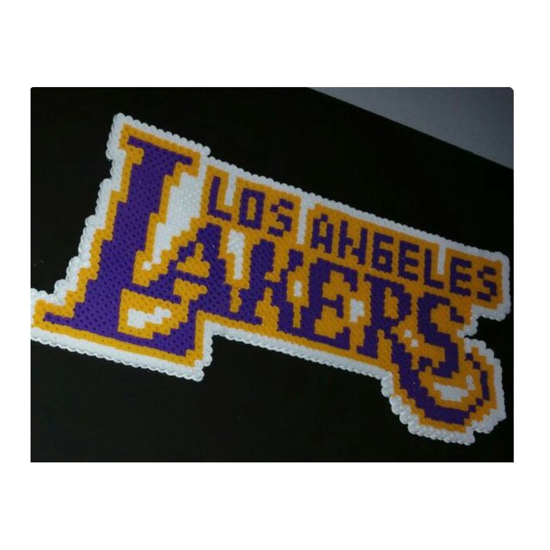 Lakers La Logo Perler Pixel Art Design Craft Others On